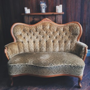 Gold vintage sofa edited