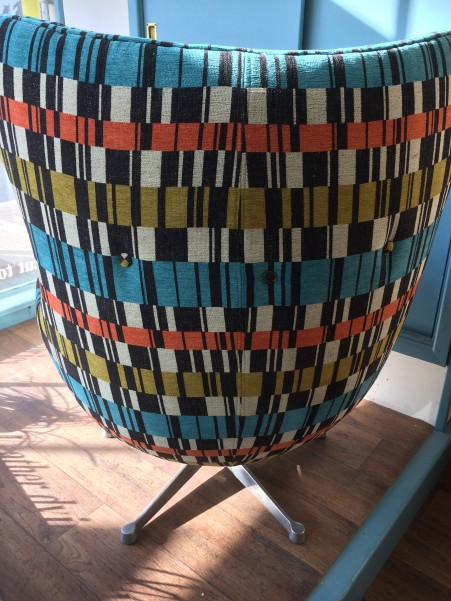 Retro egg chair back