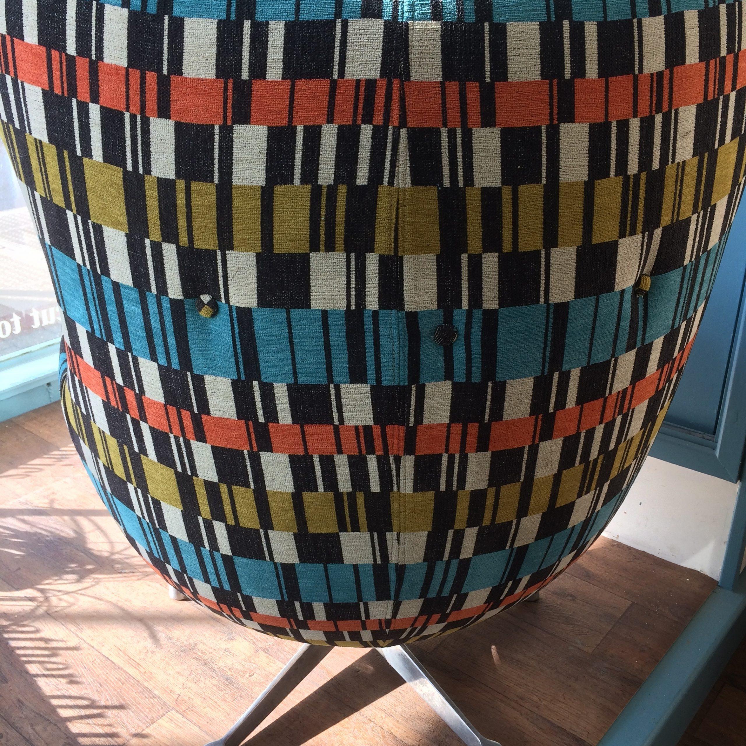 Retro egg chair back