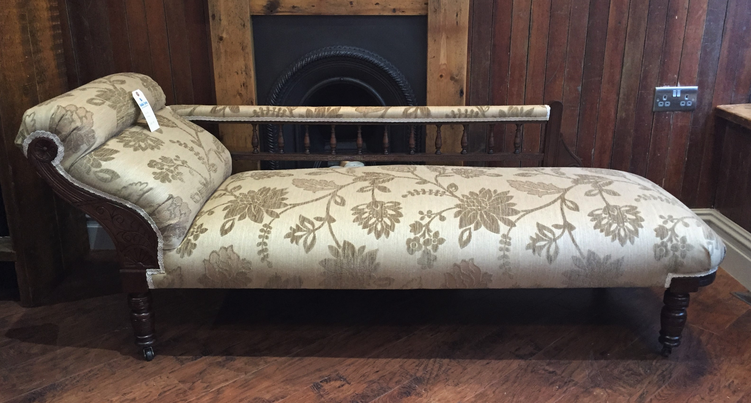 Floral chaise lounge