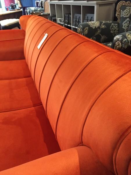 New build fluted day bed in orange velvet