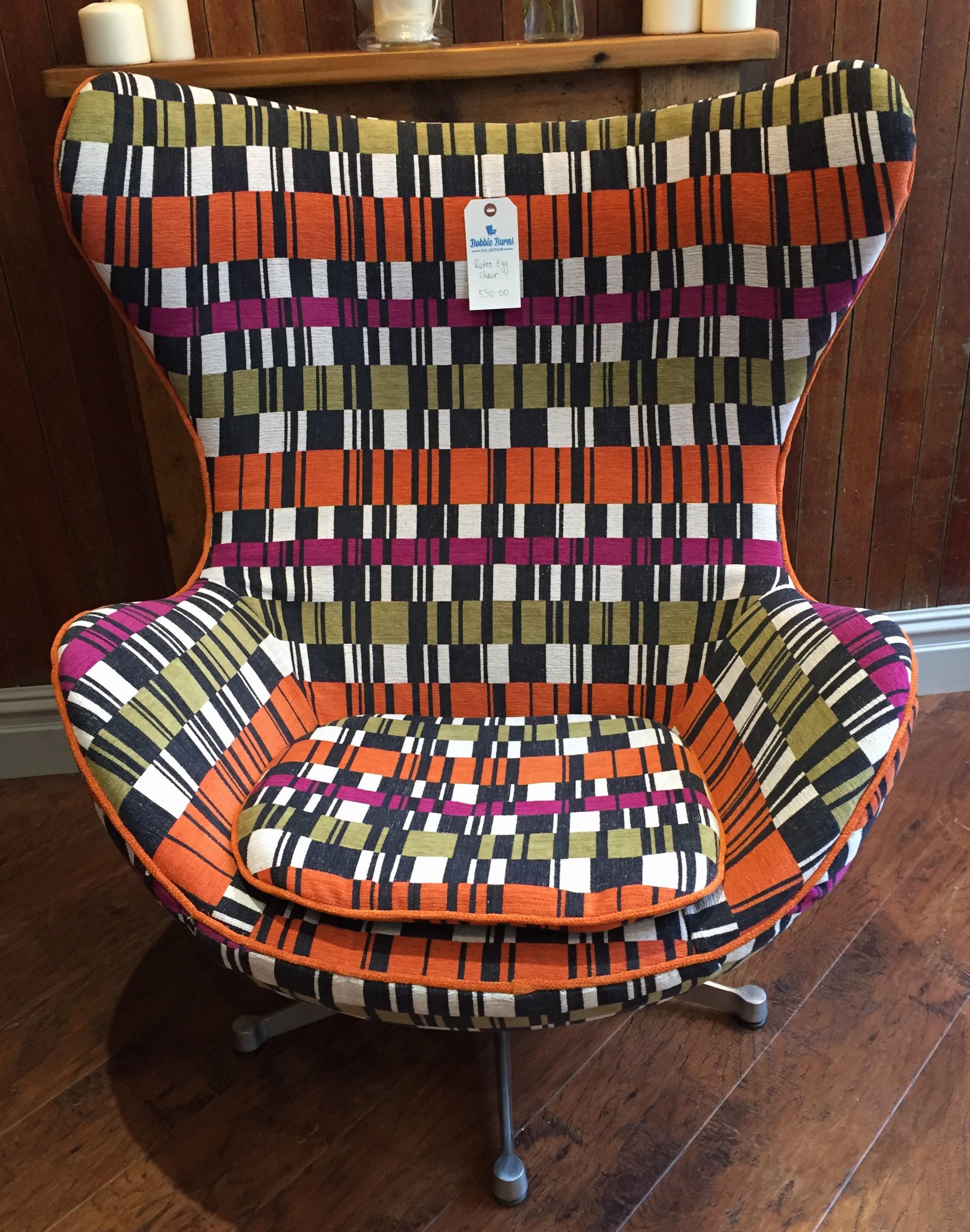 Retro egg chair in retro design