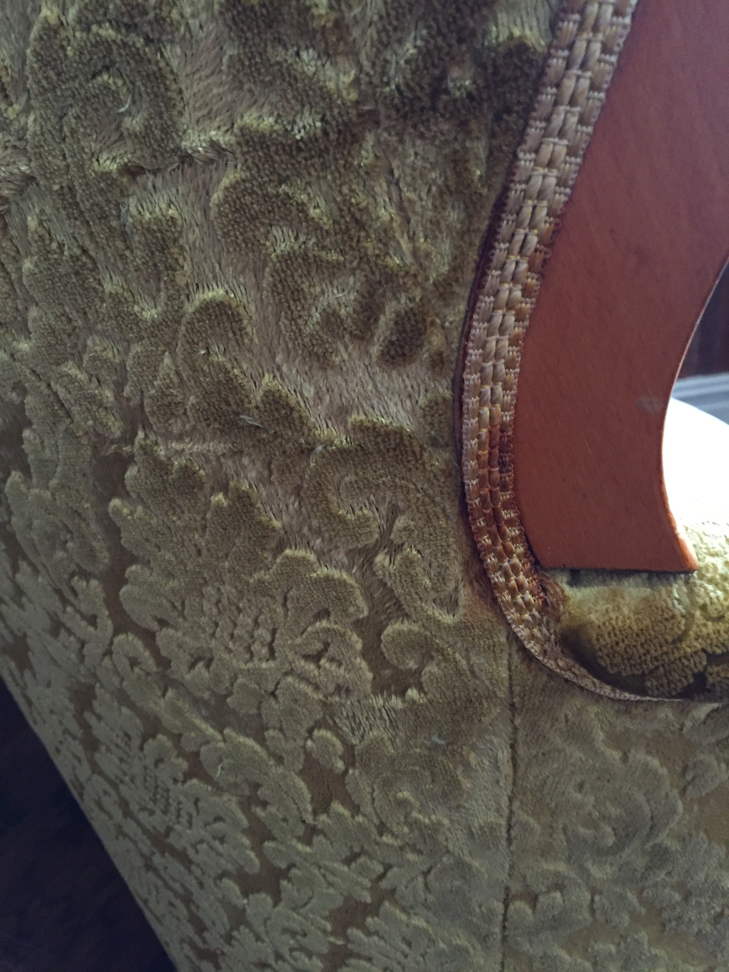 Close up of damage