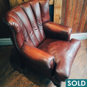 Leather chair - SOLD