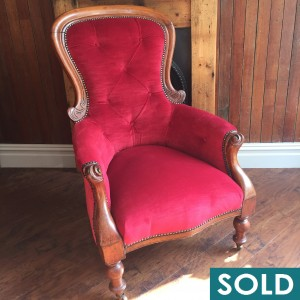 Square red chair SOLD