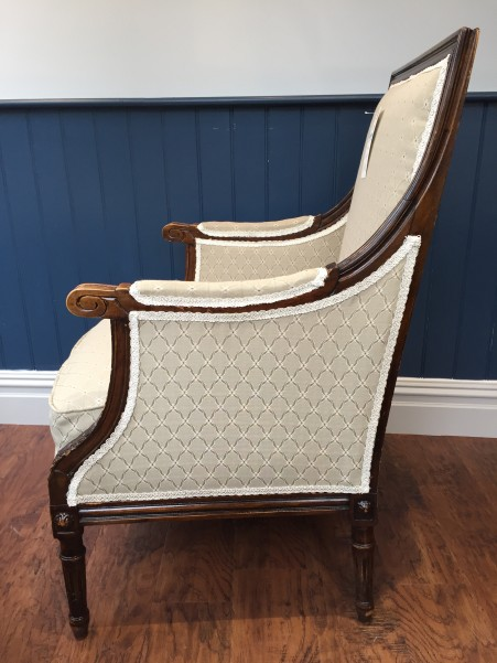 Antique armchair side profile
