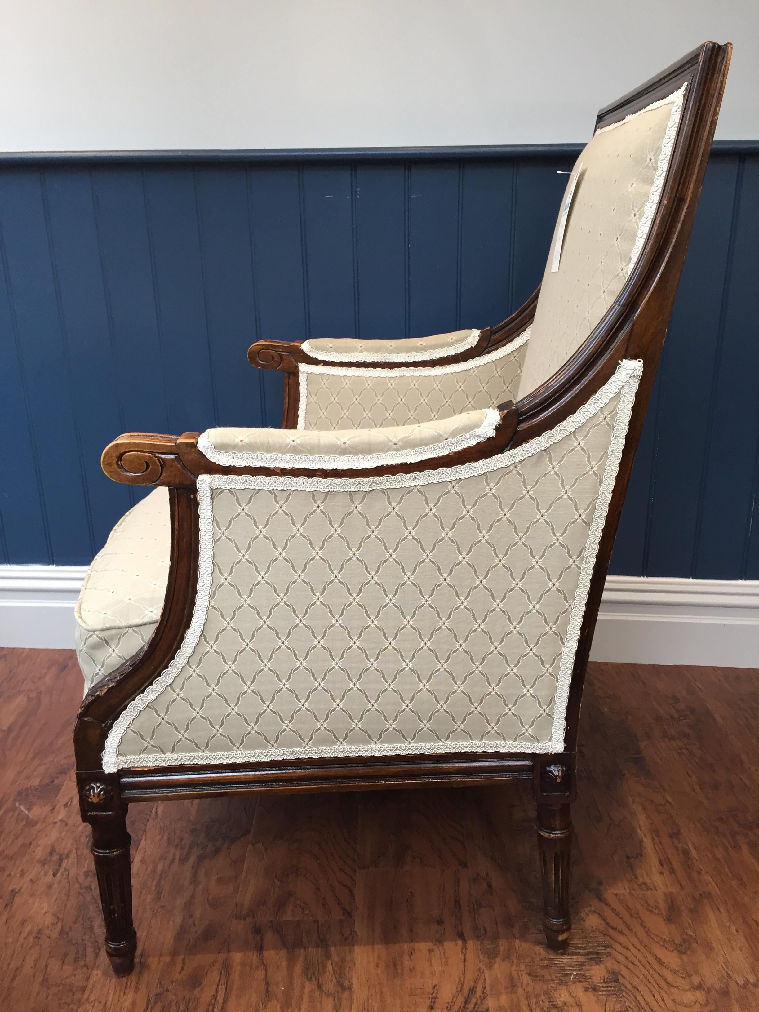 Antique armchair side profile