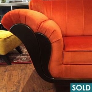 daybed orange square sold