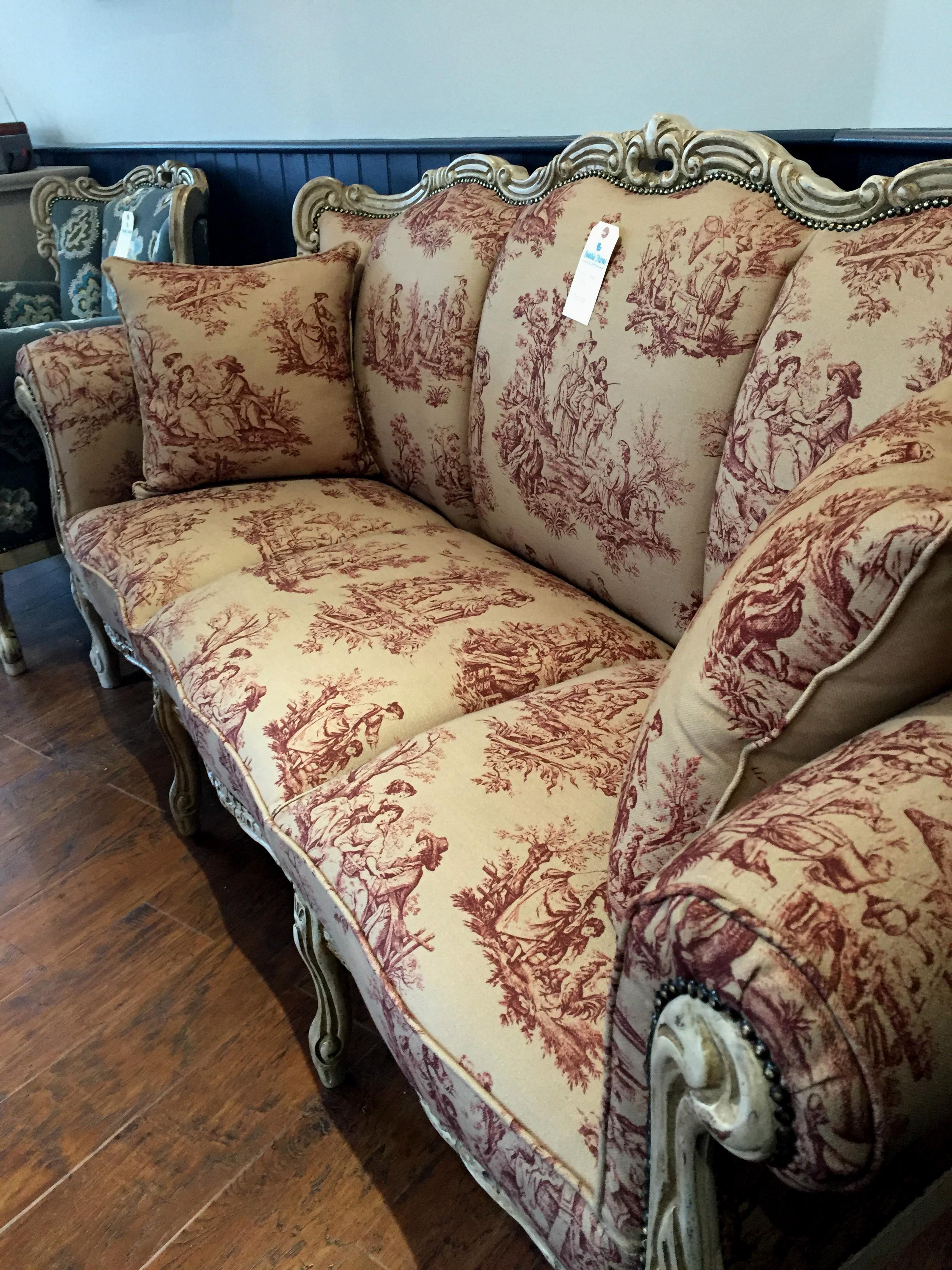 Gilt style three seat sofa