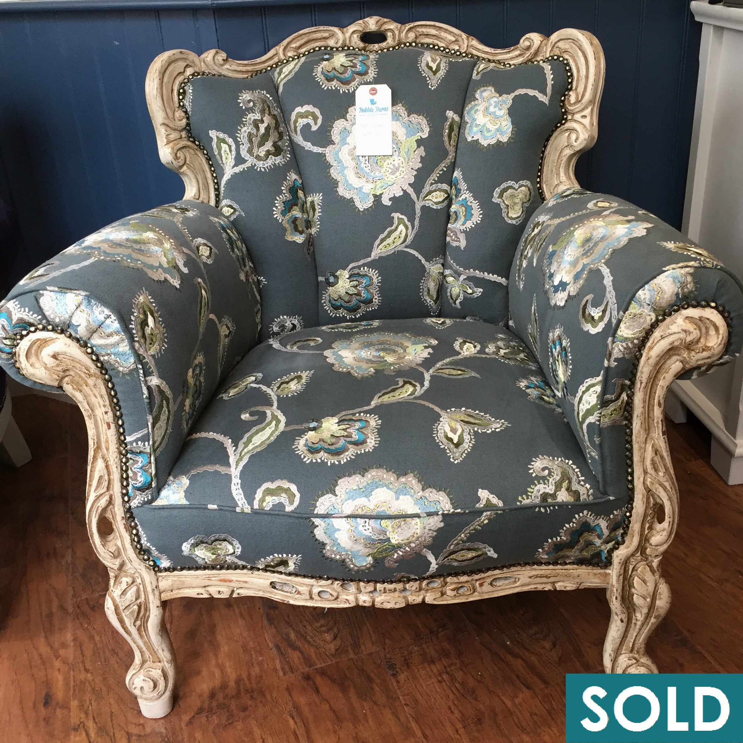 floral chair square sold