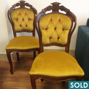gold dining chairs square sold