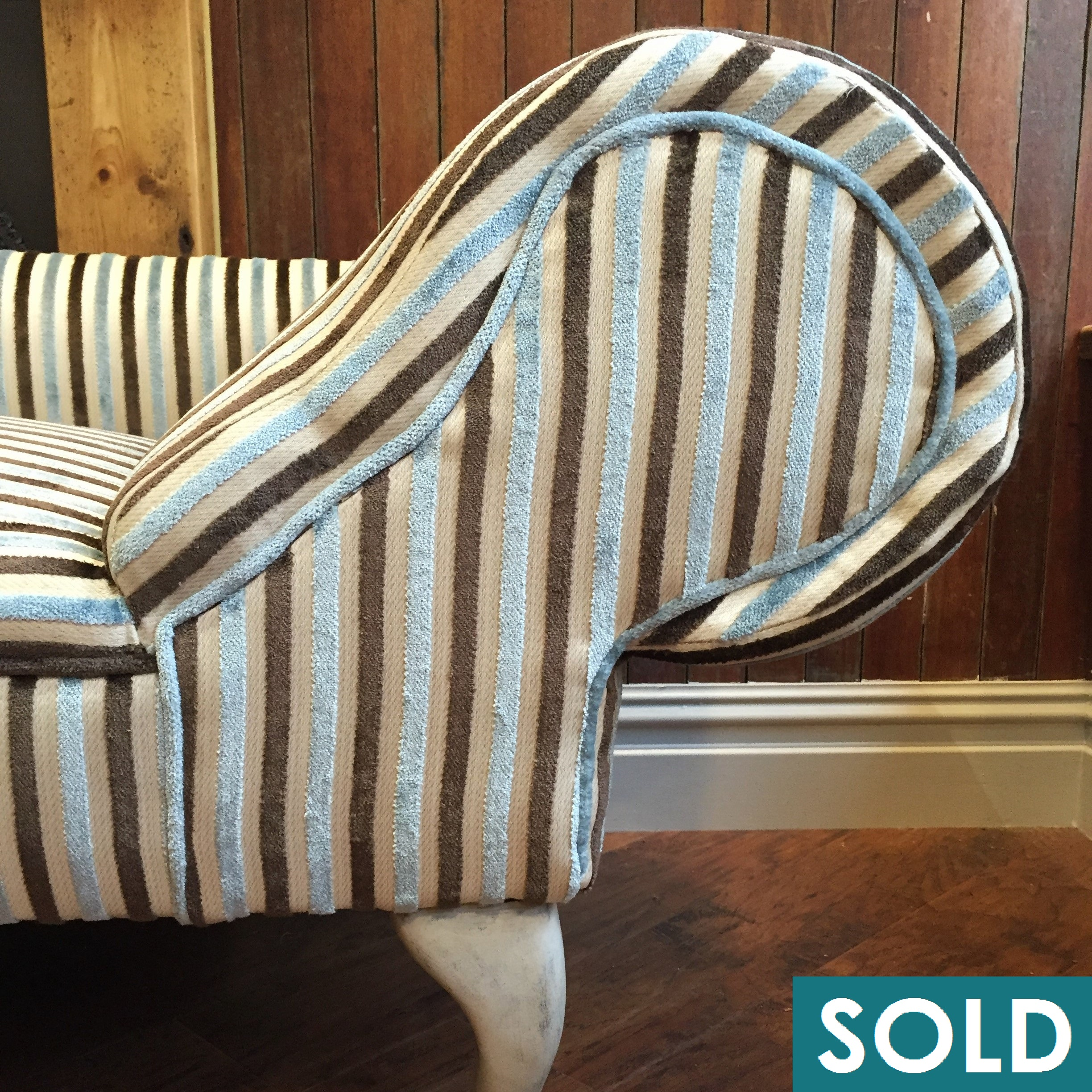 stripey chaise square sold