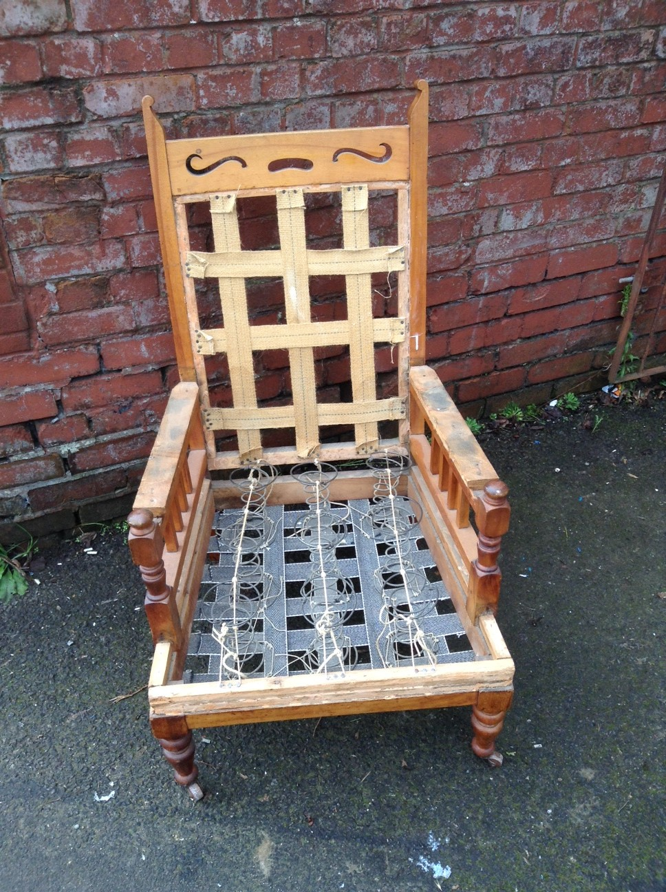 Vintage Armchair For Sale Or Reupholstery Bobbie Burns