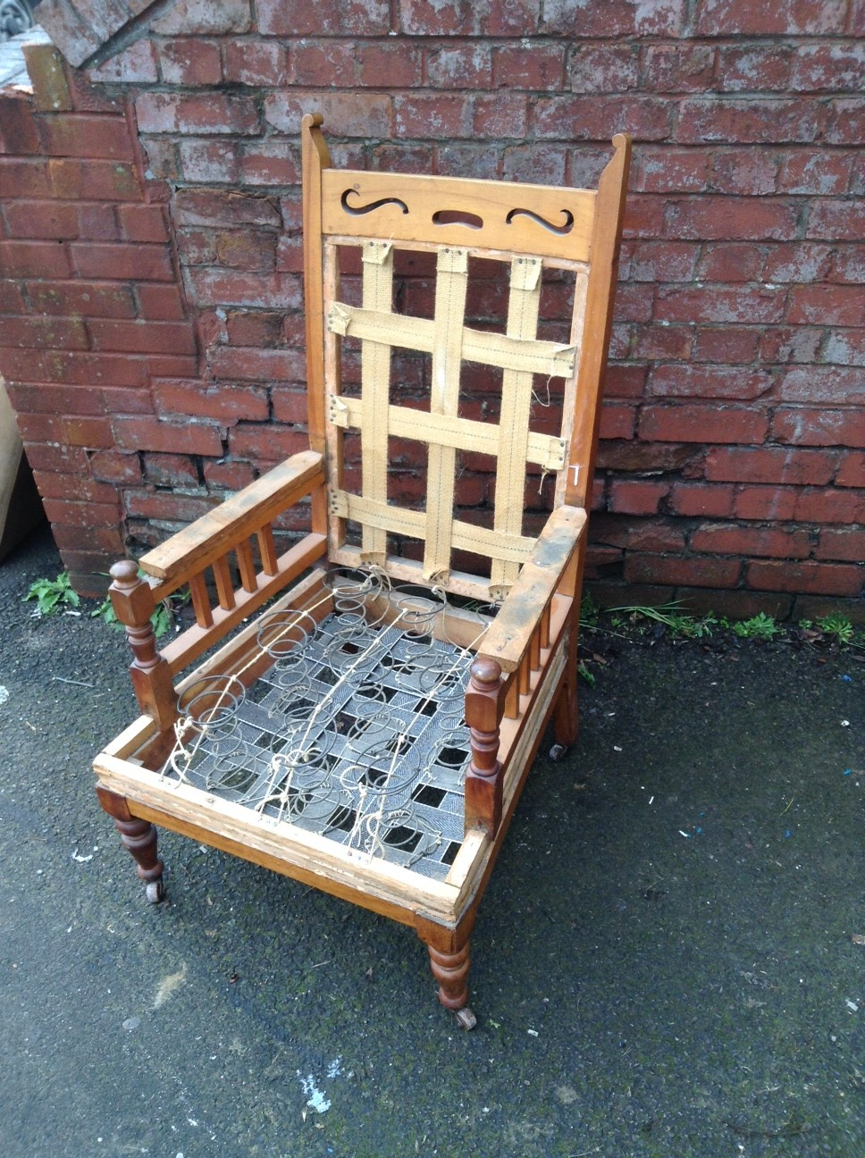 Vintage Armchair For Sale Or Reupholstery Bobbie Burns